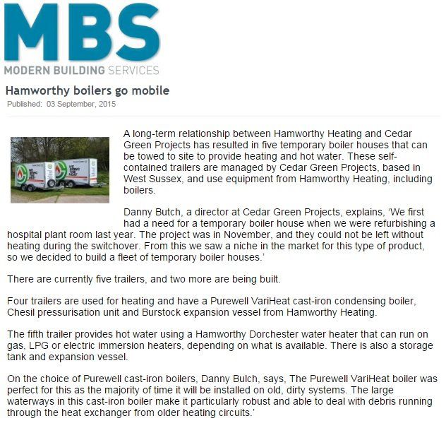 Modern Building Services feature